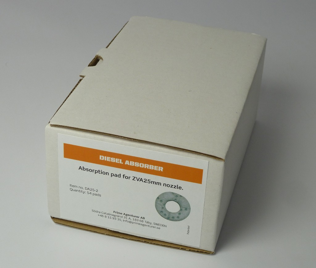 Pack containing 54 in no. absorption filters for DA40